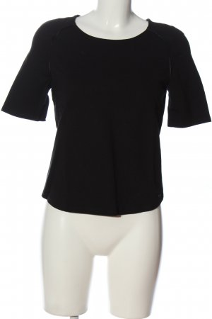 Armani Jeans Kurzarm-Bluse schwarz Casual-Look