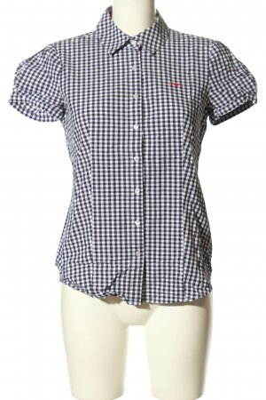 Armani Jeans Chemise à manches courtes noir-blanc motif à carreaux