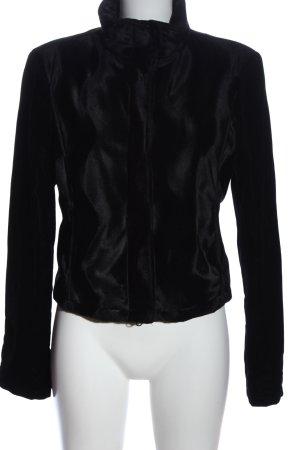 Armani Jeans Kurzjacke schwarz Casual-Look