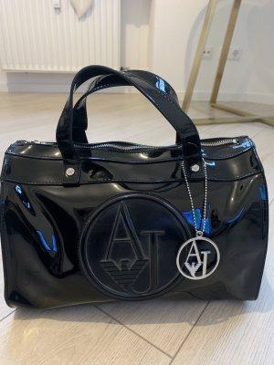 Armani Jeans Handbag black-silver-colored