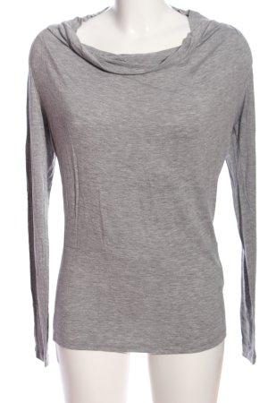 Armani Jeans Langarm-Bluse hellgrau meliert Casual-Look