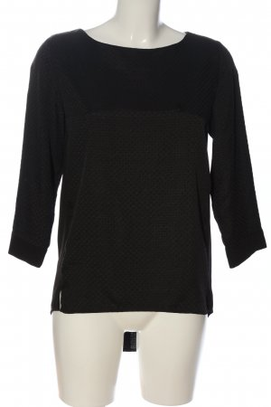 Armani Jeans Langarm-Bluse schwarz Allover-Druck Casual-Look