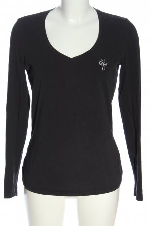 Armani Jeans Langarm-Bluse schwarz Casual-Look