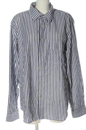 Armani Jeans Shirt met lange mouwen wit-blauw gestreept patroon elegant