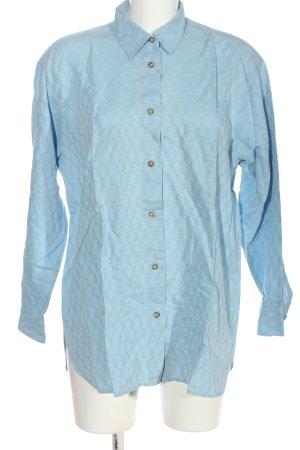 Armani Jeans Chemise à manches longues turquoise imprimé allover