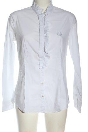 Armani Jeans Langarmhemd weiß Business-Look