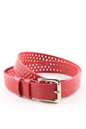 Armani Jeans Leather Belt red casual look