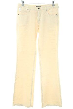 Armani Jeans Leinenhose creme Casual-Look