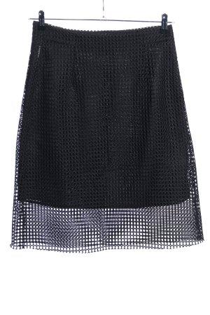 Armani Jeans Jupe mi-longue noir motif graphique style décontracté