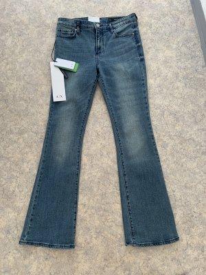 Armani Exchange Jeansy z prostymi nogawkami ciemnoniebieski