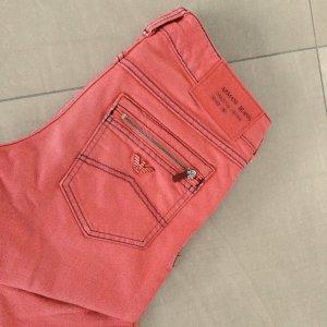 Armani Jeans Five-Pocket Trousers salmon
