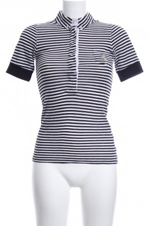 Armani Jeans Polo Shirt white-black striped pattern casual look