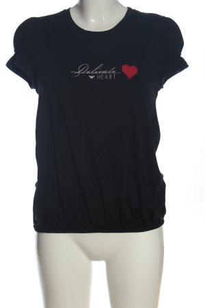 Armani Jeans Print Shirt black printed lettering casual look