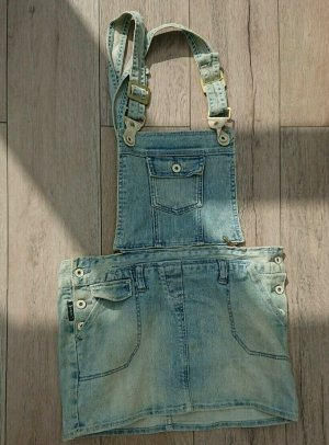 Armani Jeans Overgooier overall rok lichtblauw
