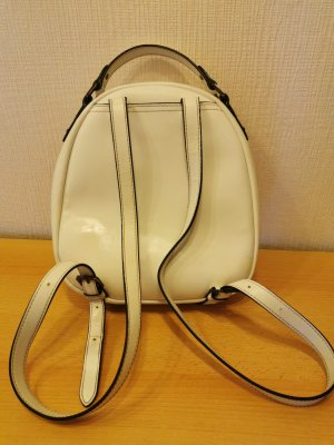 Armani Jeans Backpack Trolley white leather