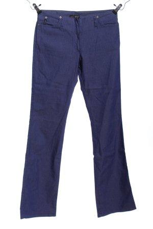 Armani Jeans Broek met wijd uitlopende pijpen blauw casual uitstraling