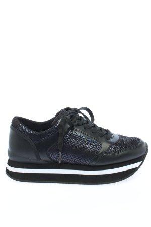 Armani Jeans Basket à lacet noir style décontracté