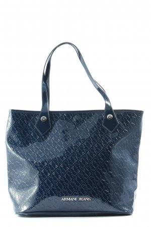 Armani Jeans Shoulder Bag blue allover print elegant