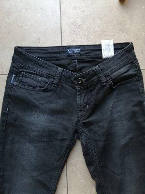 Armani Jeans met rechte pijpen zwart-donkergrijs