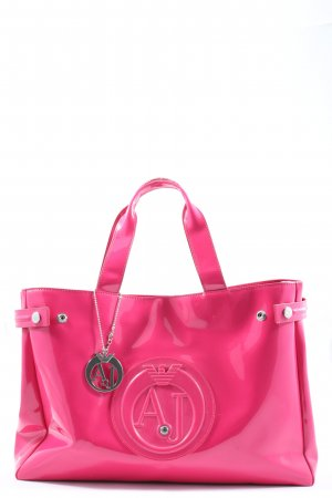 Armani Jeans Shopper roze casual uitstraling