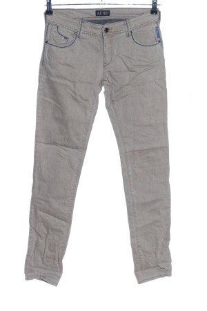 Armani Jeans Jeans slim blanc cassé moucheté style décontracté