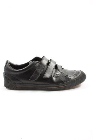 Armani Jeans Basket hook-and-loop fastener noir style décontracté