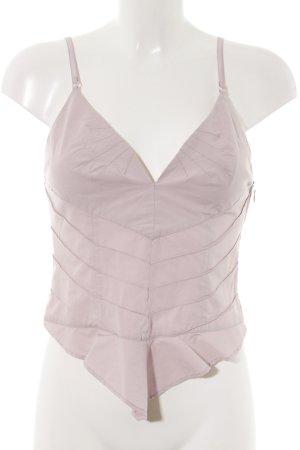 Armani Jeans Top de tirantes finos rosa look casual