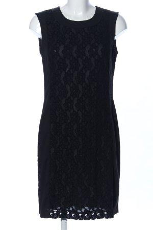 Armani Jeans Robe en dentelle noir motif de fleur élégant