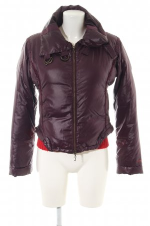 Armani Jeans Quilted Jacket red quilting pattern casual look
