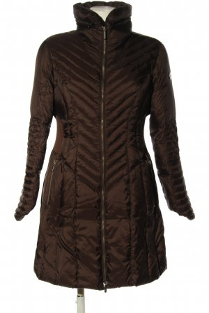 Armani Jeans Quilted Coat brown quilting pattern casual look