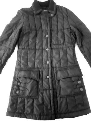 Armani Jeans Cappotto trapuntato nero Tessuto misto