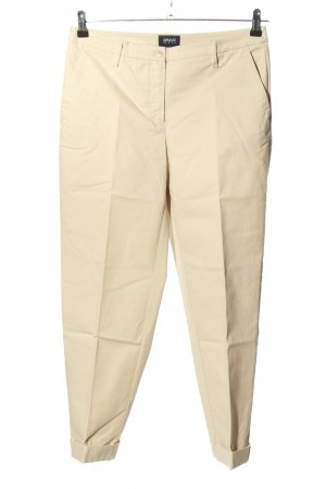 Armani Jeans Stoffhose creme Business-Look