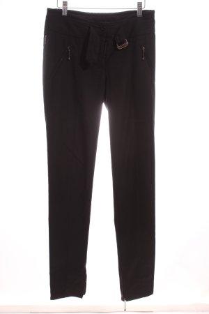 Armani Jeans Stoffhose schwarz Business-Look