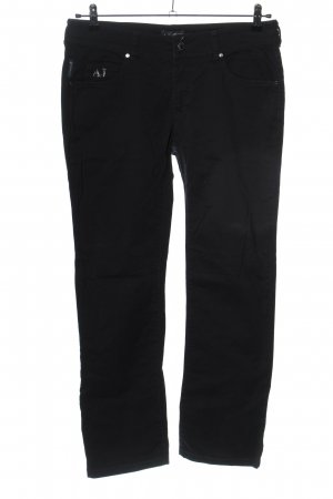 Armani Jeans Straight Leg Jeans black casual look