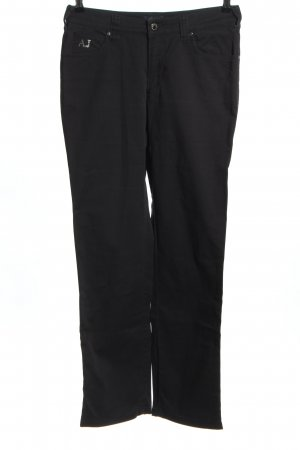 Armani Jeans Straight Leg Jeans black casual look