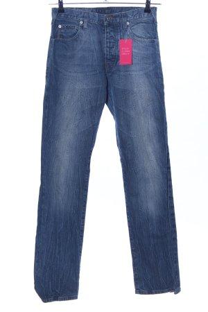 Armani Jeans Jeans coupe-droite bleu style décontracté