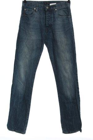 Armani Jeans Jeansy z prostymi nogawkami niebieski W stylu casual
