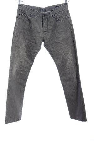 Armani Jeans Straight-Leg Jeans hellgrau Casual-Look