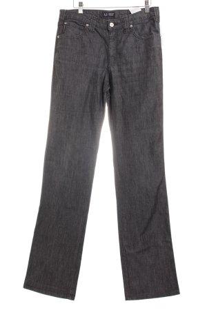 Armani Jeans Straight-Leg Jeans graublau meliert Casual-Look