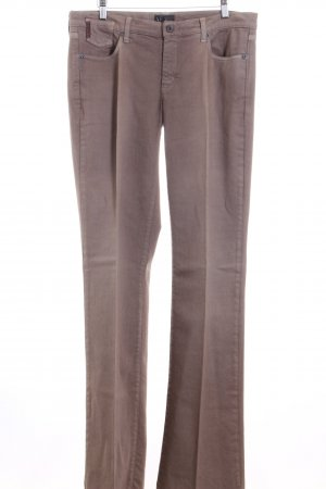 Armani Jeans Straight-Leg Jeans graubraun Washed-Optik