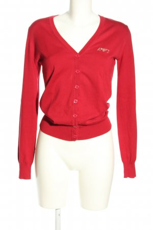 Armani Jeans Strick Cardigan rot Casual-Look