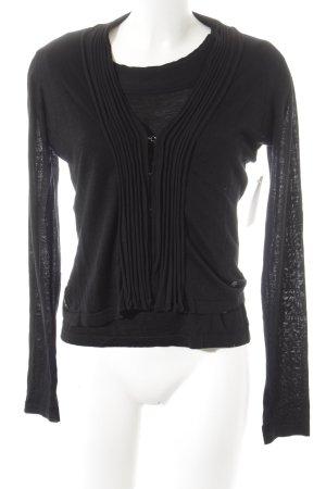Armani Jeans Strick Twin Set schwarz schlichter Stil