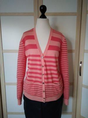 Armani Jeans Cardigan salmon-red cotton