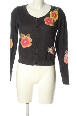 Armani Jeans Strickjacke Blumenmuster Casual-Look