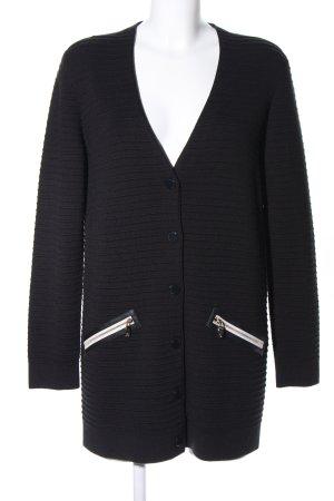 Armani Jeans Gebreide jas zwart-wolwit casual uitstraling