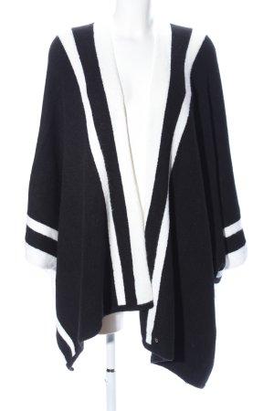 Armani Jeans Poncho en tricot noir-blanc motif rayé style décontracté