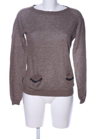 Armani Jeans Pull tricoté brun moucheté style décontracté