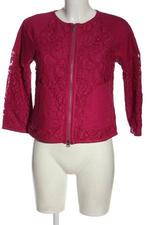 Armani Jeans Veste courte rose style décontracté
