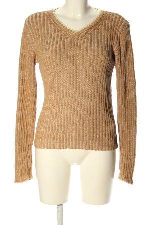Armani Jeans Pull tricoté blanc cassé style décontracté
