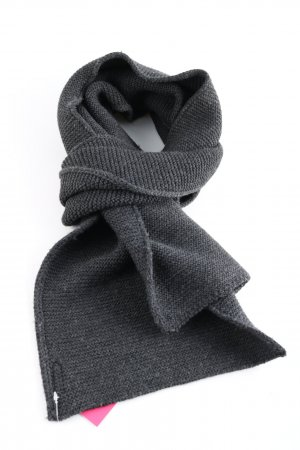 Armani Jeans Knitted Scarf light grey themed print casual look